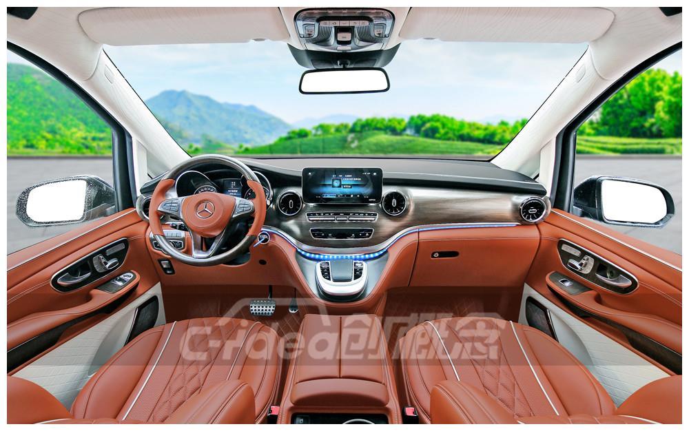 全面升级,奔驰V260L改装,打造精品内饰,高贵奢华感