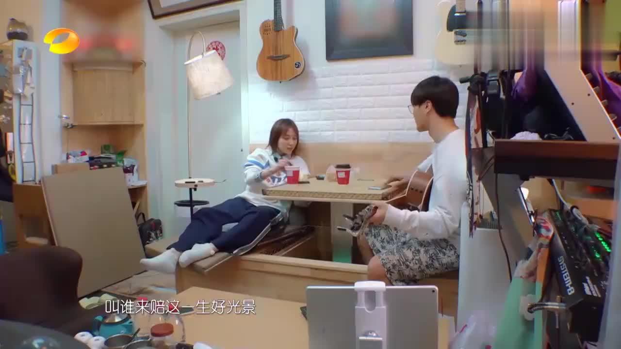 闺女:吴昕清唱《听雪落下的声音》,陆虎暖心伴奏,简直太好听!