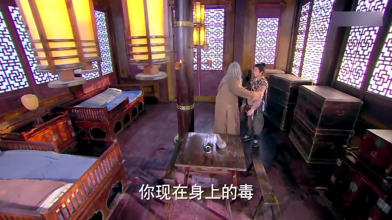 郭靖大声斥责郭芙,小杨过受到了委屈,竟没想到他全是在演戏