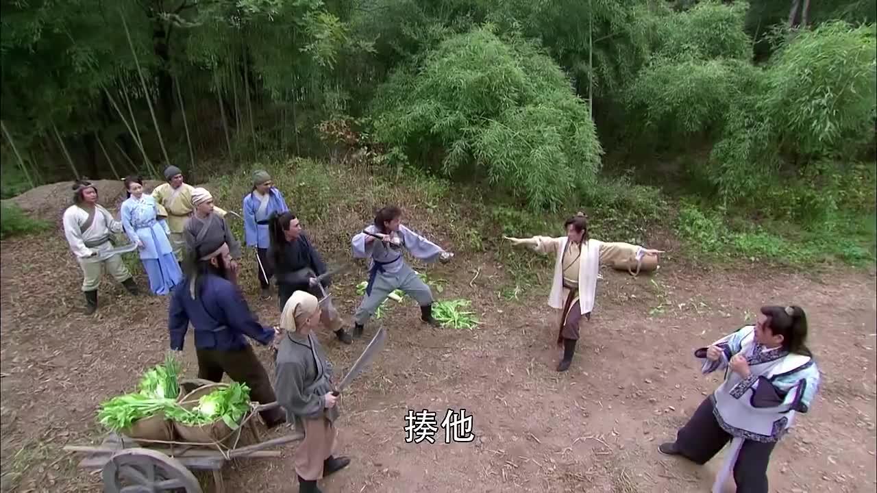 少林寺传奇藏经阁小伙子救姑娘,乱打一通竟然打退了所有绑匪