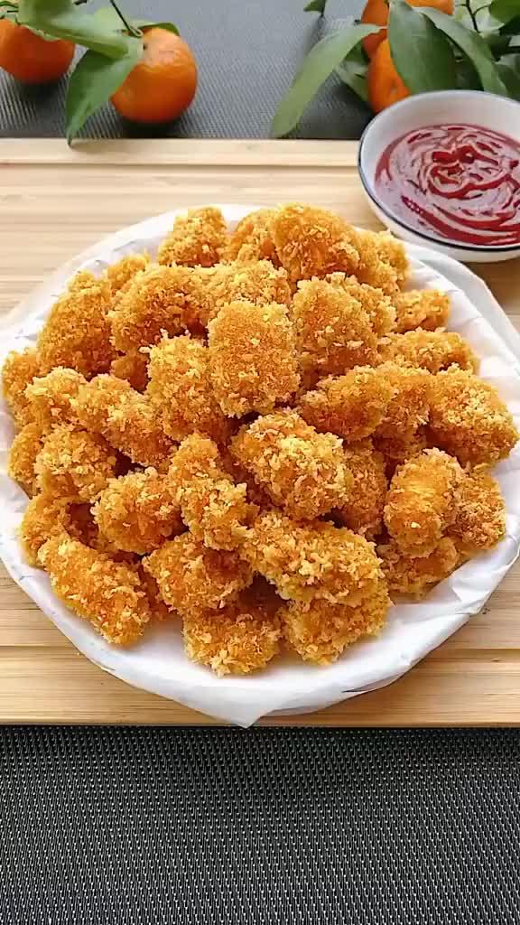 宝宝宅在家里没有零食吃,我教大家做广东鸡米花吧,安全健康!