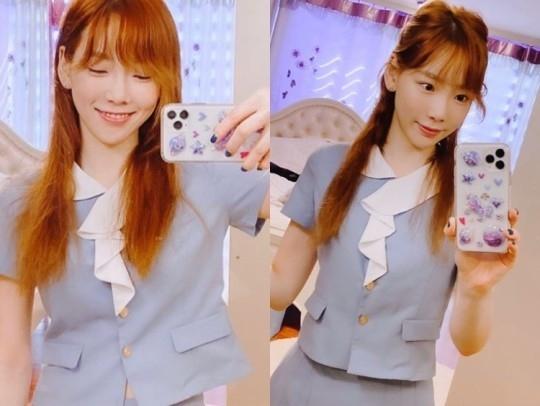 少女时代金泰妍公开母校校服 不输给高中生的美貌