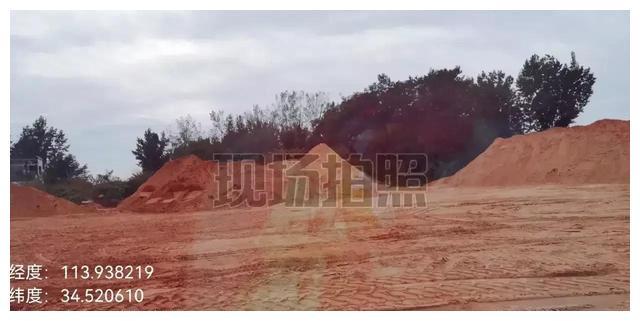 河南中牟县一黑沙场污染环境