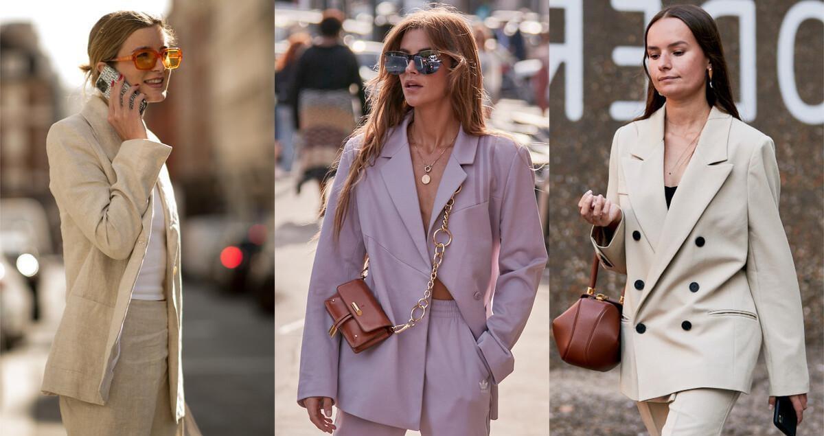 """职场女性别总穿西装配长裤了,超流行的""""西装+短裤"""",老时髦了"""