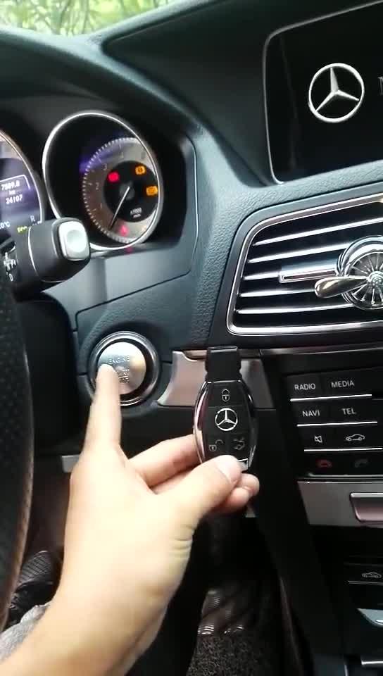 视频:奔驰E300L212升级原厂一键启动+原厂无钥匙进入