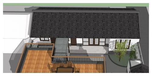 22万就能给父母盖栋新中式合院,超大露台+水景,爸妈看了乐哈哈