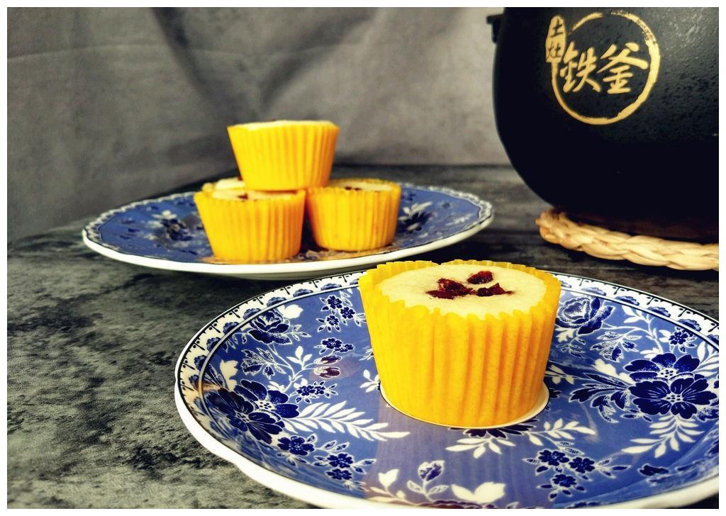自制蔓越莓蒸蛋糕,蒸出来的营养美味,好吃不上火