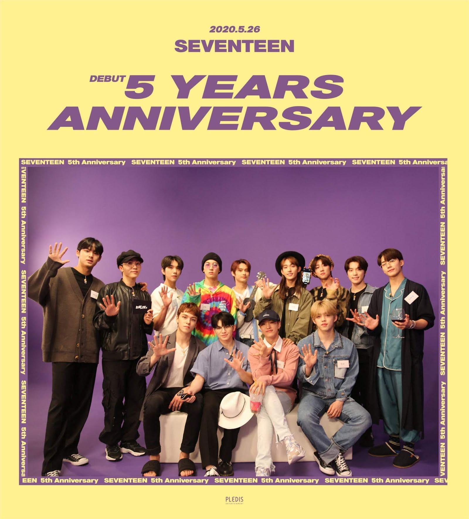 SEVENTEEN以一种能让你心潮澎湃的方式庆祝他们出道五周年