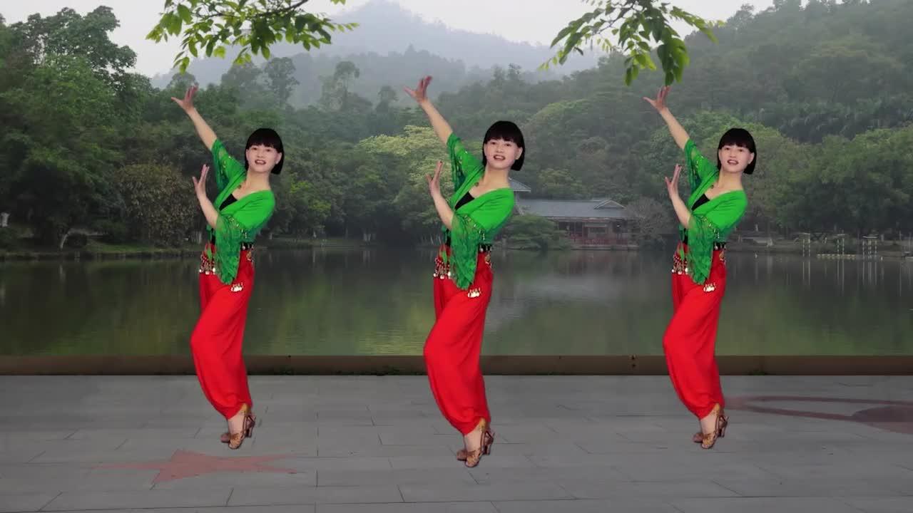 广场舞《踩着我的节拍跳起来》印度舞,减肥瘦腰附背面演示