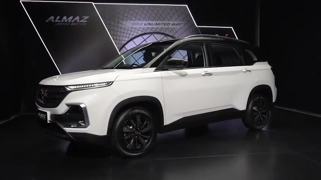 视频:国产七座神车,2021款五菱宏光Almaz,按下钥匙看到配置,太帅了