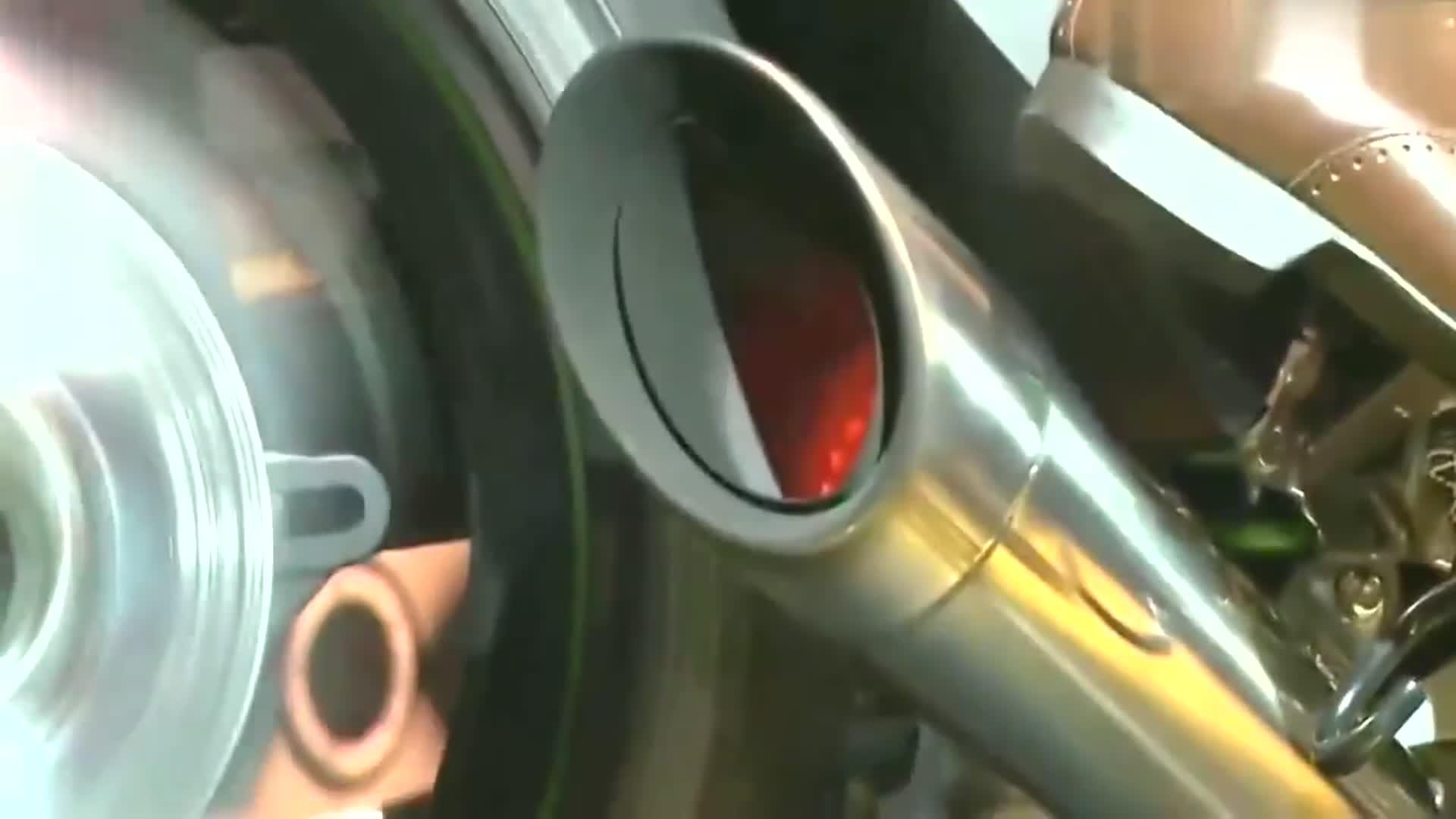 机车川崎H2R声浪鉴赏,涡轮镇压的魅力一般人不懂,这加速太猛!