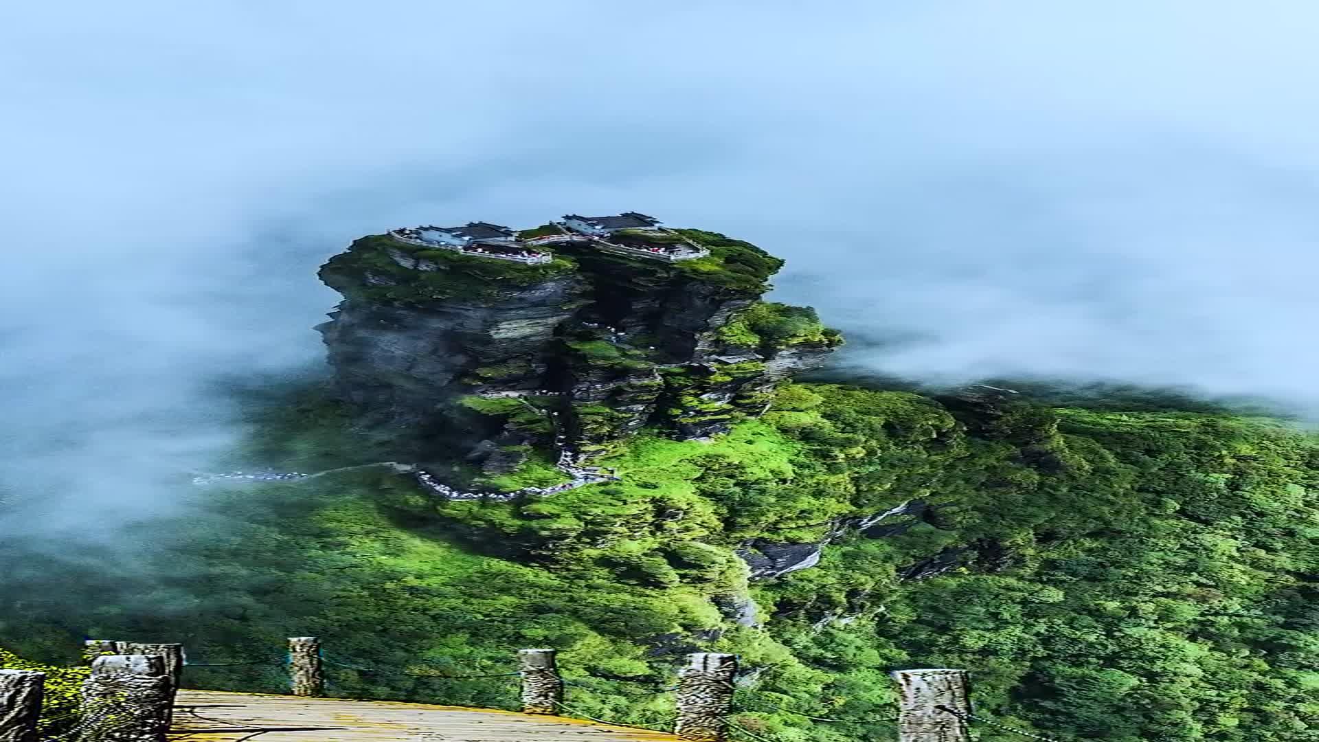 大自然的鬼斧神工张家界、梵净山。500年前建造而成