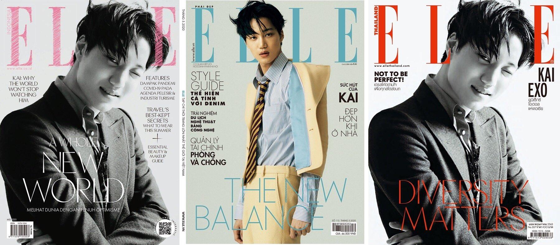 EXO金钟仁登上《ELLE KOREA》4月刊封面写真 超凡魅力令世界瞩目
