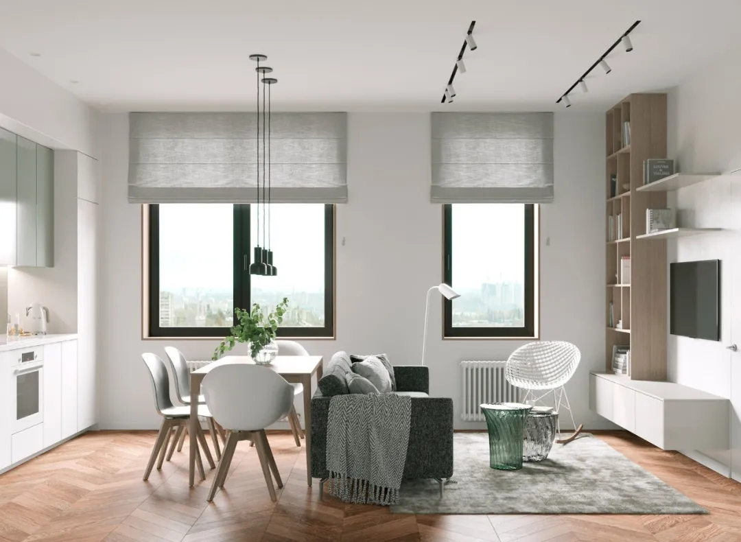 装潢公司案例|54㎡小户型公寓装修变身两房一厅设计