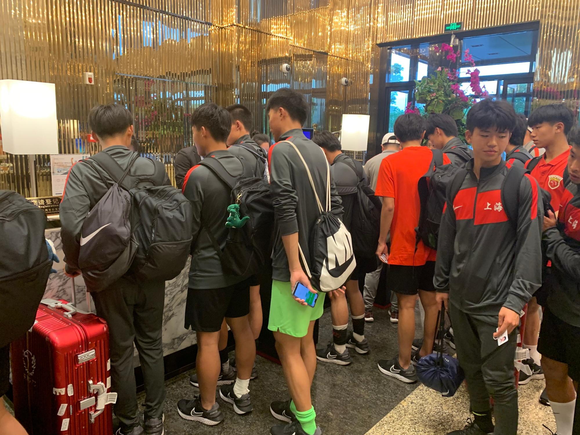 上海男足U18全运队已入驻赛区,球队正式开启训练备战全运会