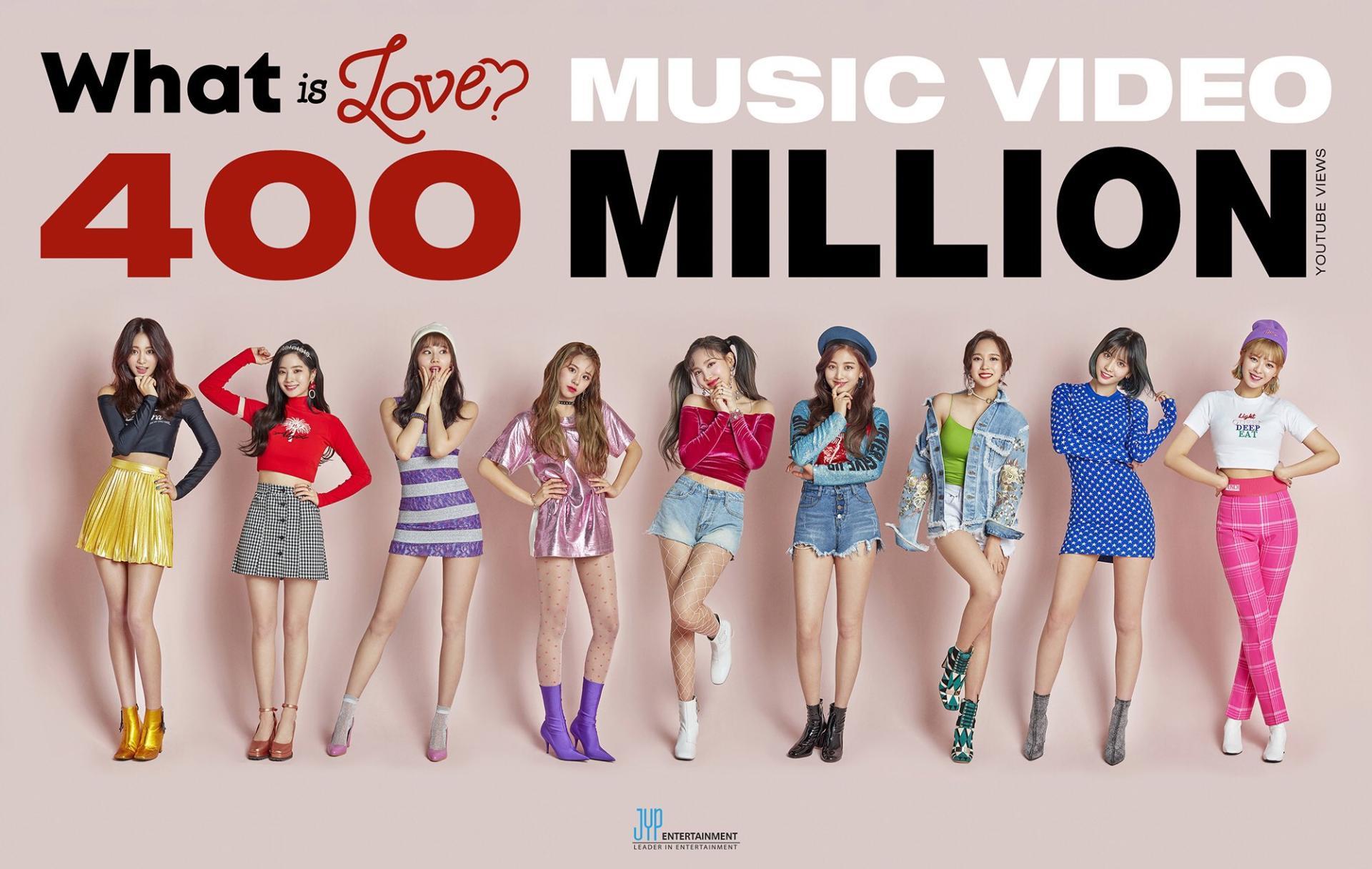 TWICE凭借《What is Love?》收获第3个4亿播放量的MV