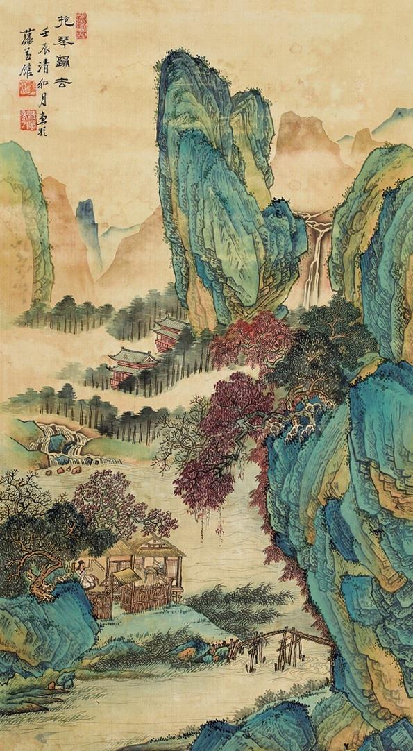 黄秋园国画作品欣赏:意境不输李可染,作品凝重而浩荡