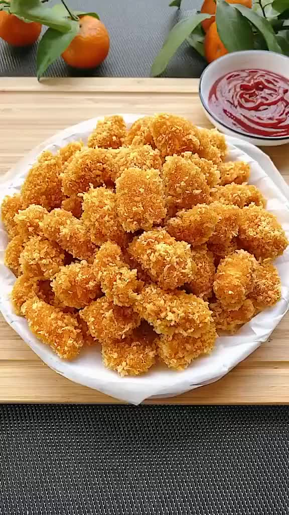 连宝宝都可以吃的鸡米花零食,广东媳妇教你做
