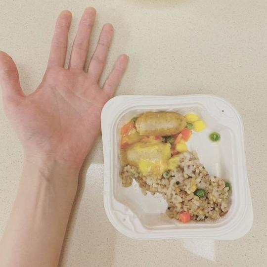 金泫雅苗条身材的秘诀是控制饮食吗? 公开手掌大小的便当