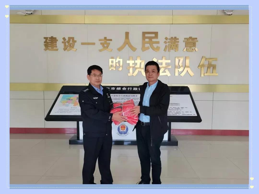龙口五洲商管助力综合行政执法局开展志愿服务