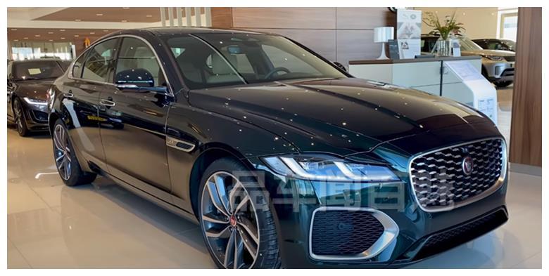 新款捷豹XF实车,新前脸+祖母绿配色英伦范十足,内饰科技感升级
