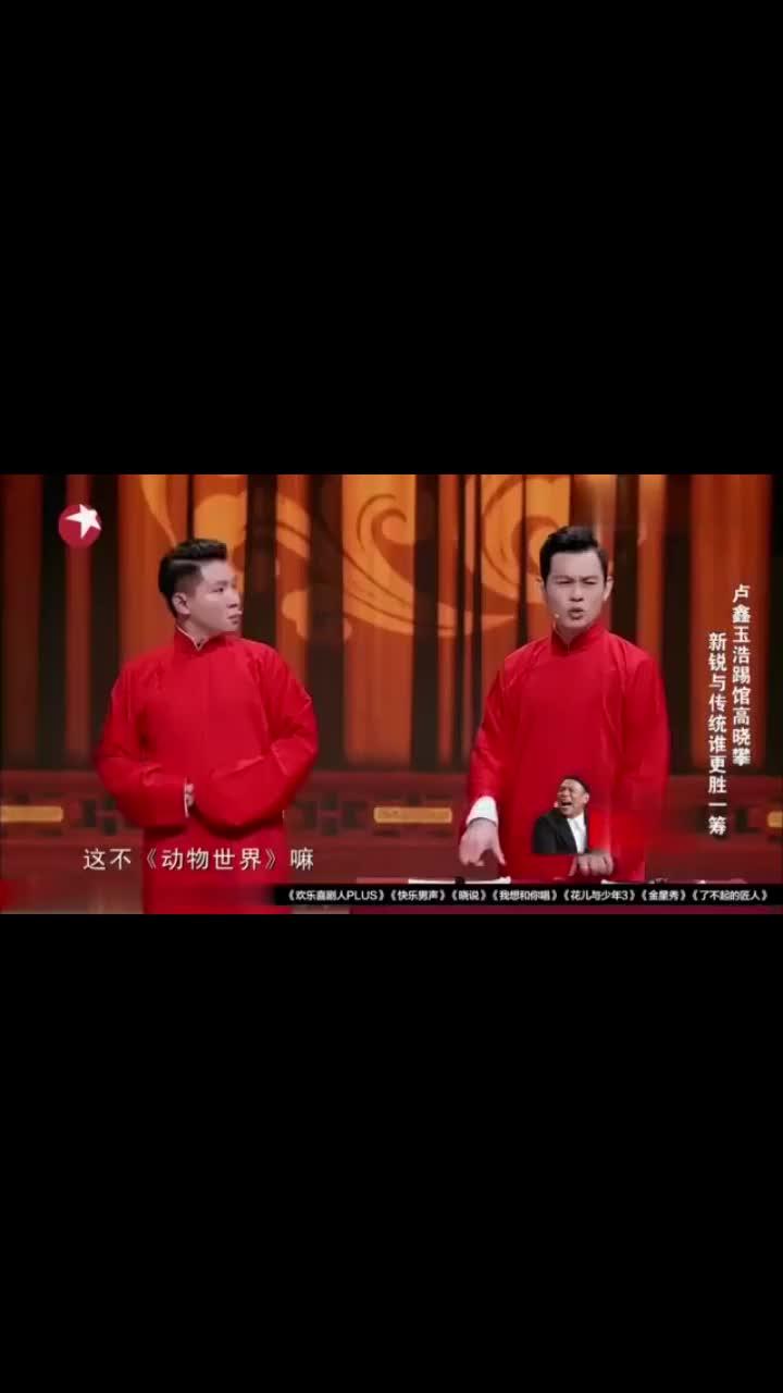笑声传奇:卢鑫表演《动物世界》风格类相声,玉浩却遭了秧!