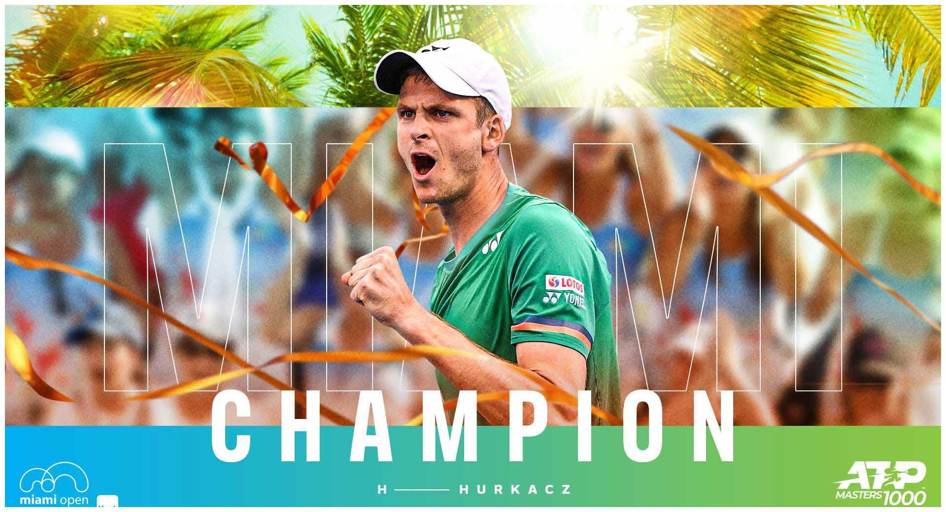 胡尔卡奇斩获迈阿密大师赛冠军!ATP正式迈向红土赛季