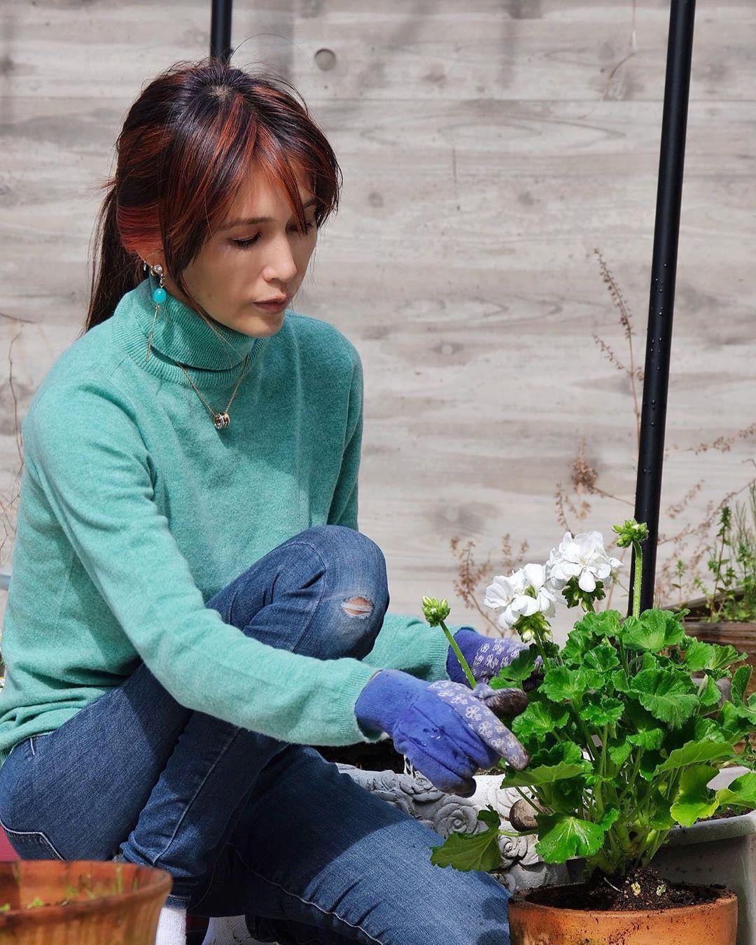工藤静香长女木村心美拍摄的自家庭院的照片公开