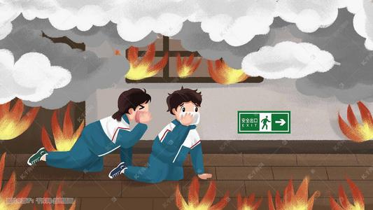火灾逃生的基本方法。