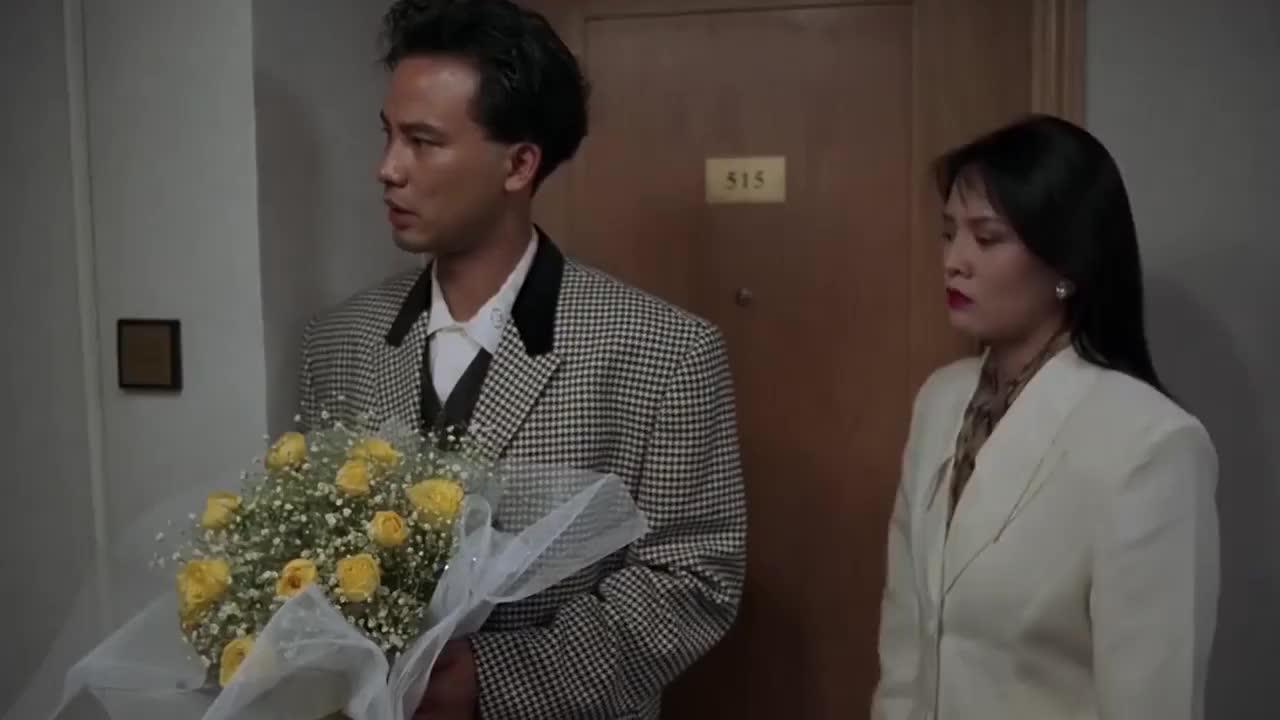 送不出去的花也好意思送郑裕玲,任达华可真行,万梓良故意耍流氓