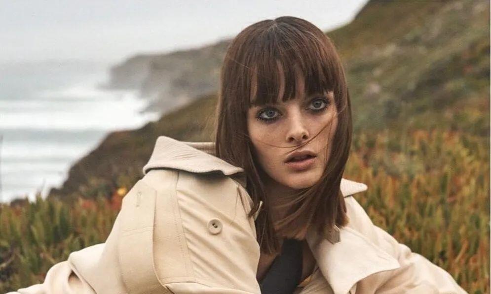 澳洲超模阿尔哈·彼得森,3月《华尔街日报》杂志时尚风衣摄影