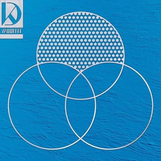 姜丹尼尔首次公开首张迷你专辑《CYAN》的封面