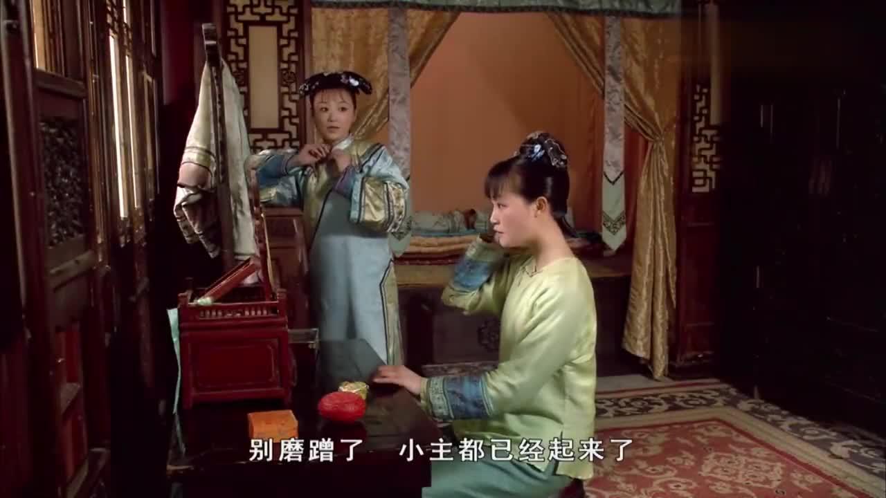 甄嬛传:听到皇帝要来,浣碧赶紧打扮自己,这红花也太俗气了