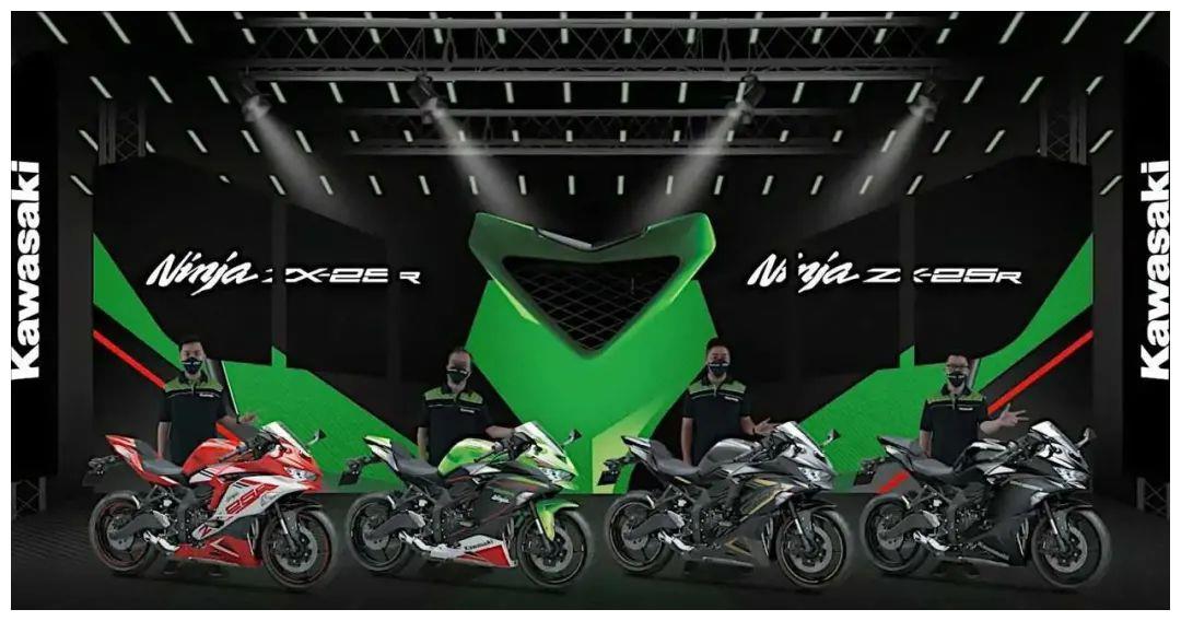 川崎不再绿,2022款川崎Ninja ZX-25R在印尼推出新配色