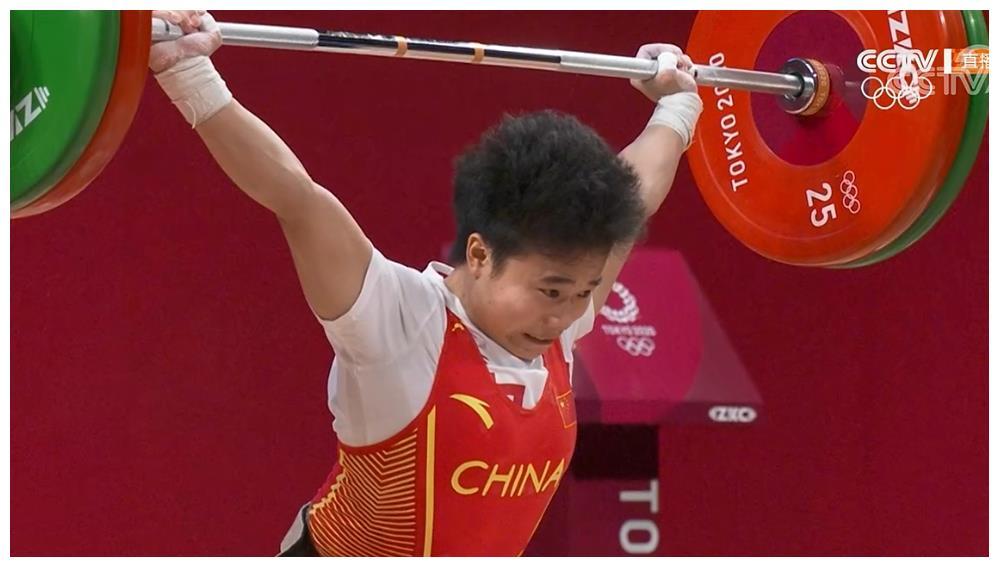 中国奥运第二金!侯志慧49公斤举重夺冠,比利时小将泪洒赛场