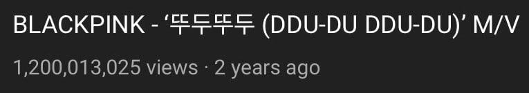 BLACKPINK《DDU-DU DDU-DU》成为K-POP组合MV突破12亿次第一人