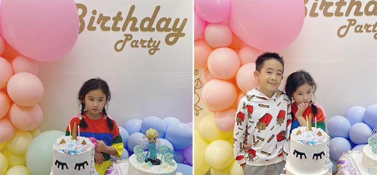 郑希怡为女儿办生日派对 Jasper与浸浸合影笑眯眯