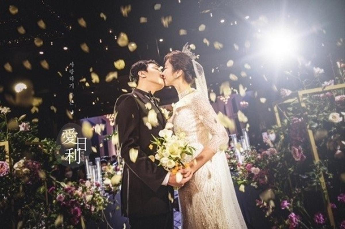 裴瑟琪沈义燮交往3个月就结婚了!公开婚礼写真