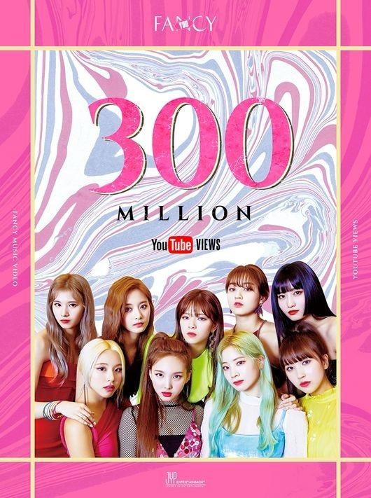 TWICE《FANCY》MV播放次数突破3亿次 总计第7次