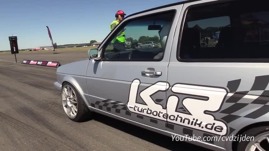 视频:850马力大众高尔夫2.4马力VR5涡轮加速290公里小时
