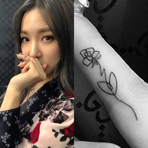六位韩国女偶像用纹身展现她们的性感身材和魅力