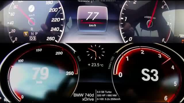 视频:奔驰S400和宝马740到底有多大差距上了不限速高速你就知道了