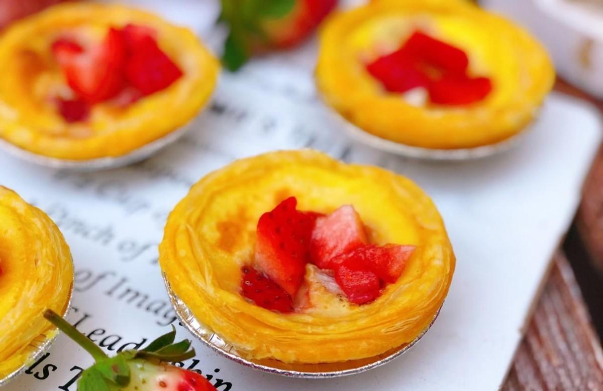 草莓蛋挞轻松在家做,集美味、颜值于一体,上桌就光
