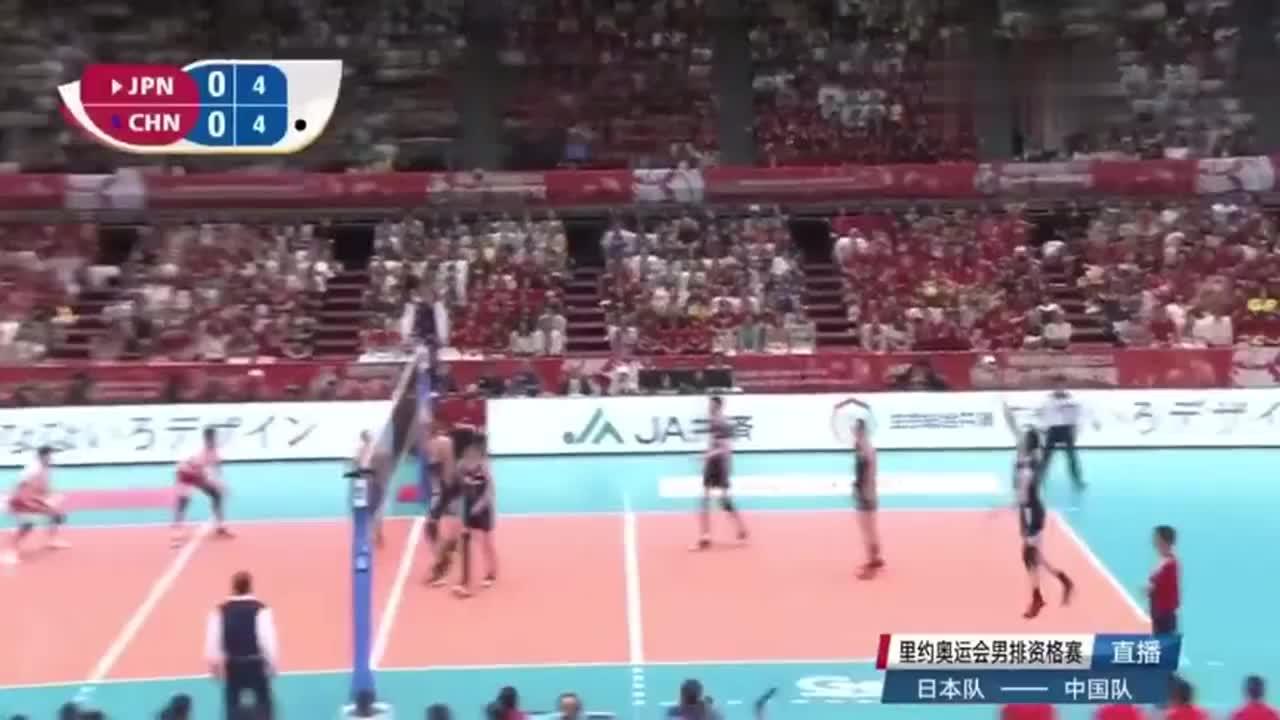 中国男排的飘球难得如此好用,这一次飘得日本队披头散发