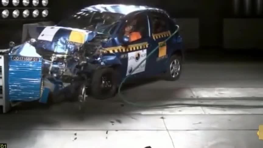 视频:16款比亚迪F0碰撞测试,大家看看就好!