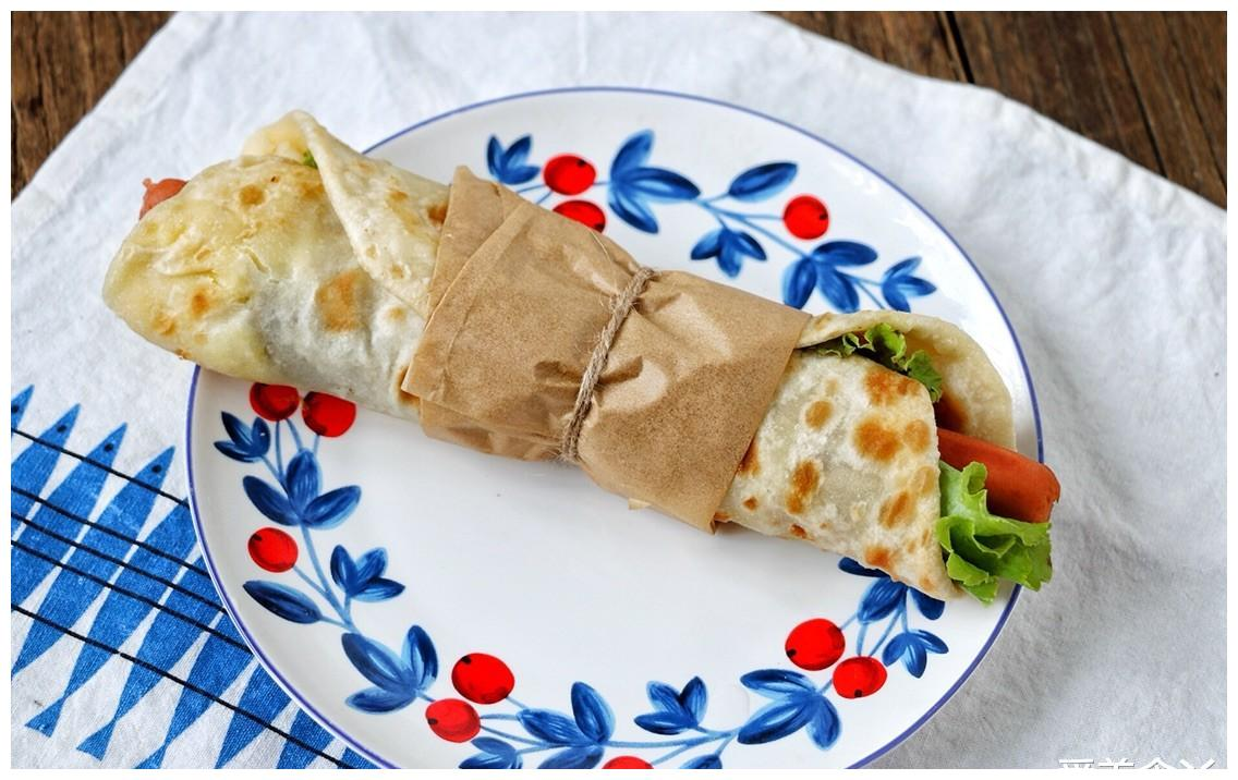 鸡蛋灌饼的简单家常做法,在家就能做好,柔软多层,太香了