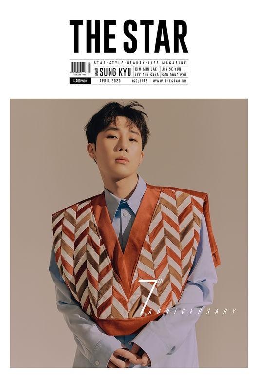 INFINITE金圣圭被选为杂志《THE STAR》封面模特 讲述单独演唱会的感想