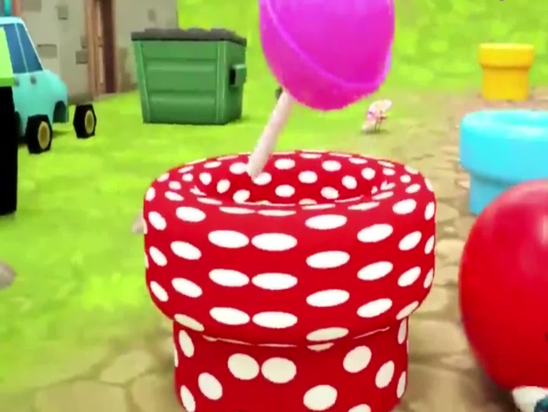 球球吃棒棒糖拆惊喜蛋,益智动画学颜色