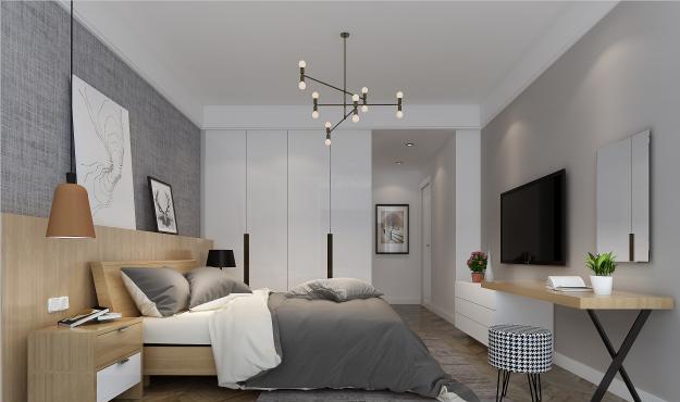 一栋四居室的房子有多大?90 000元现代气势风格设计说明!