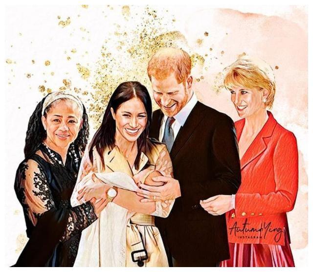 戴安娜如果活着,凯特和梅根会很亲密,这组插画描绘出美好画面!